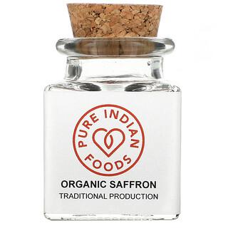 Pure Indian Foods, Organic Saffron, 1 g