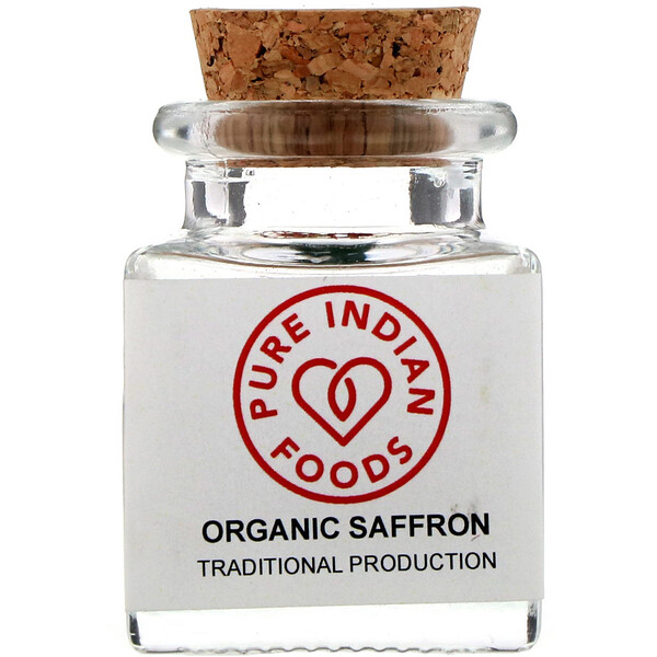 Pure Indian Foods, Organic Saffron, 1 g