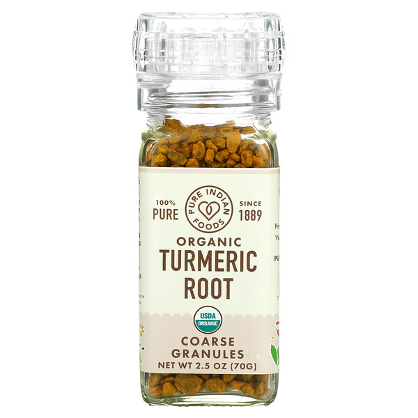 Organic Turmeric Root, Coarse Granules, 2.5 oz (70 g)