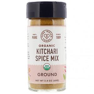 Пуре Индиан Фудс, Organic Kitchari Spice Mix, Ground, 2.4 oz (68 g) отзывы