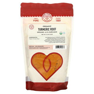 Pure Indian Foods, Organic Turmeric Root, Ground, 7.5 oz (212 g)