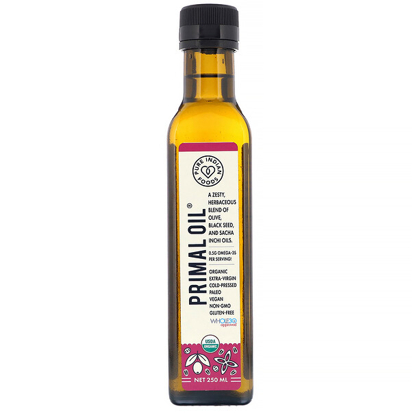 Pure Indian Foods, Organic Cold Pressed Extra-Virgin Primal Oil, 250 ml