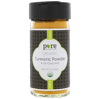 Pure Indian Foods, Organic Turmeric Powder, 2.3 oz (65 g)