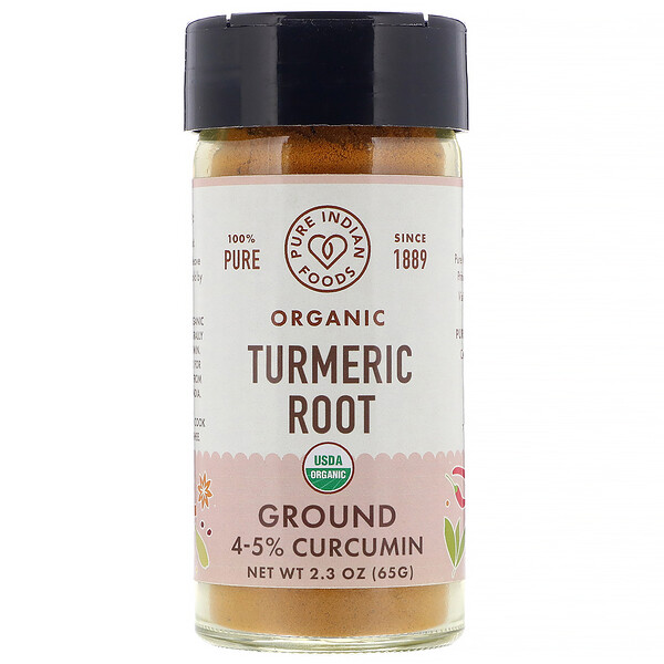 Pure Indian Foods, Organic Turmeric Root, Ground, 2.3 oz (65 g) (Discontinued Item)