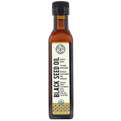 Купить Pure Indian Foods Органическое масло черного тмина первого холодного отжима, 250 мл