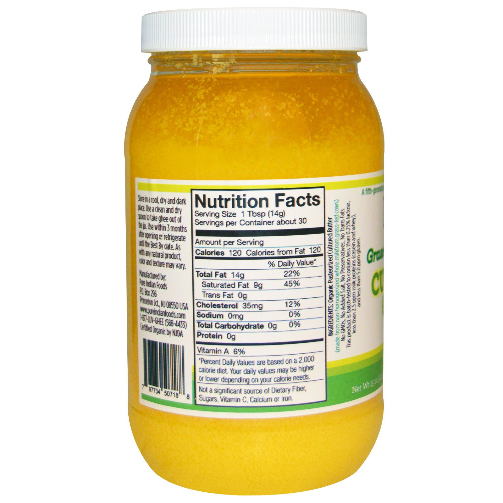 Pure Indian Foods Cultured Ghee