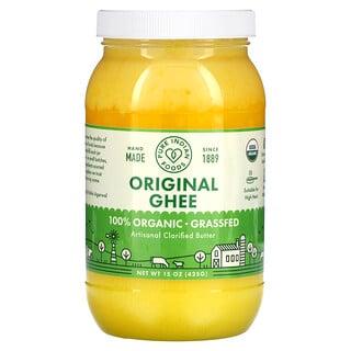Pure Indian Foods, 100% Organic Grass-Fed Original Ghee, 15 oz (425 g)