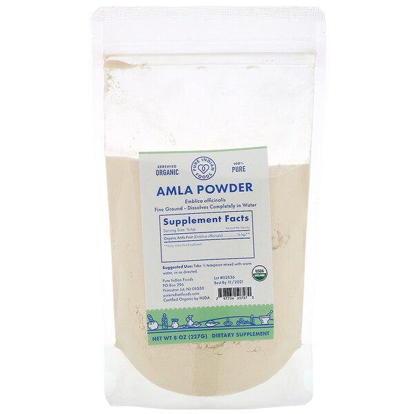Organic Amla Powder, 8 oz (227 g)
