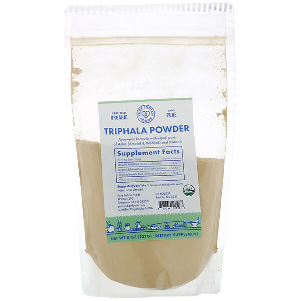 Organic Triphala Powder, 8 oz (227 g)