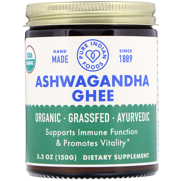 Pure Indian Foods, Organic Ashwagandha Ghee, 5.3 oz (150 g)