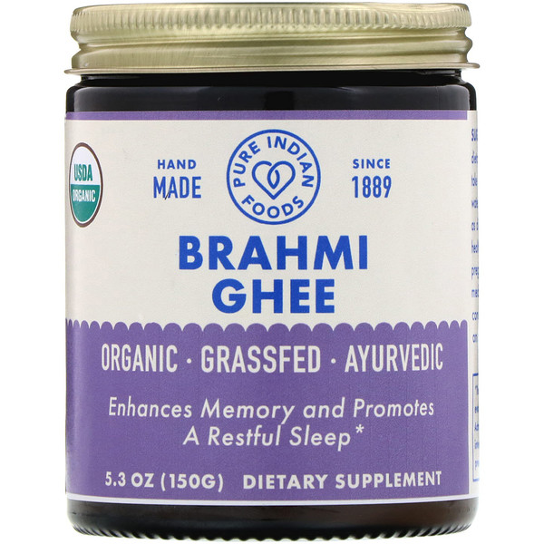Pure Indian Foods, Organic Brahmi Ghee, 5.3 oz (150 g) (Discontinued Item)