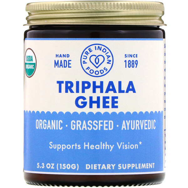 Pure Indian Foods, Organic Triphala Ghee, 5.3 oz (150 g)