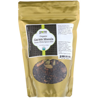 Pure Indian Foods, Organic Garam Masala, Exotic Whole Spices (DIY), 8 oz (226 g)