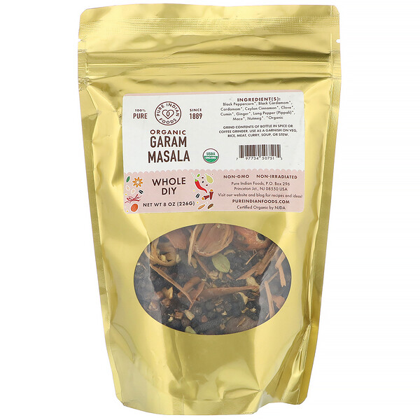 Organic Garam Masala, Whole DIY, 8 oz (226 g)