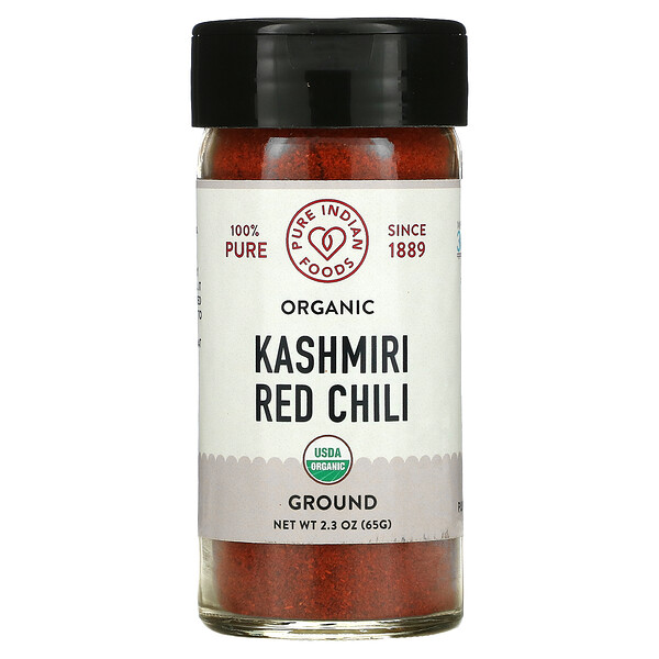 Organic Kashmiri Red Chili, Ground, 2.3 oz (65 g)