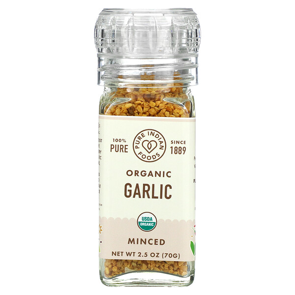Organic Garlic, Minced, 2.5 oz (70 g)