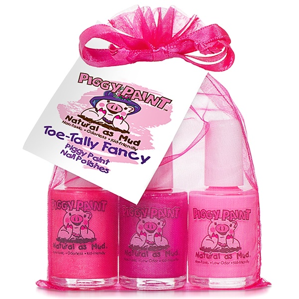 Piggy Paint, Nail Polishes, Toe-Tally Fancy, 3 Bottles, 0.5 fl oz (15 ml) Each