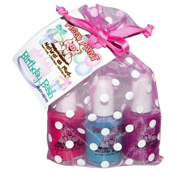 Piggy Paint, Nail Polish, Birthday Bash Gift Set, 3 Bottles, 0.5 fl oz (15 ml) Each (Discontinued Item)