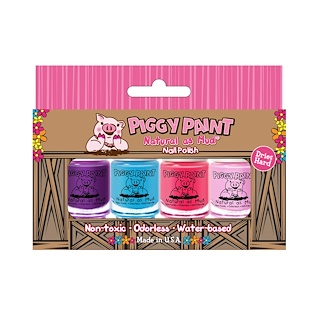 Piggy Paint, Natural as Mud, Nail Polish, 4 Piece Set (3.5 ml) Each