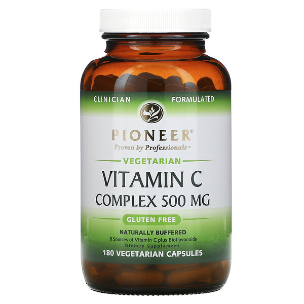 Complexe de vitamineC, 500mg, 180capsules végétariennes