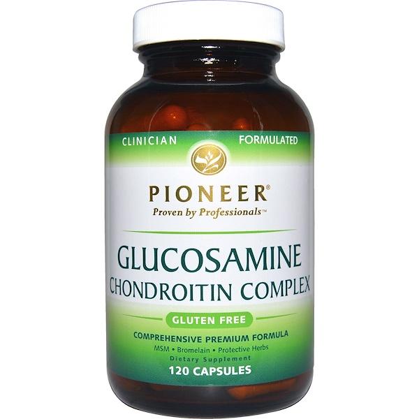 Pioneer Nutritional Formulas, Глюкозамин и Хондроитин Комплекс 120 капсул (Discontinued Item)