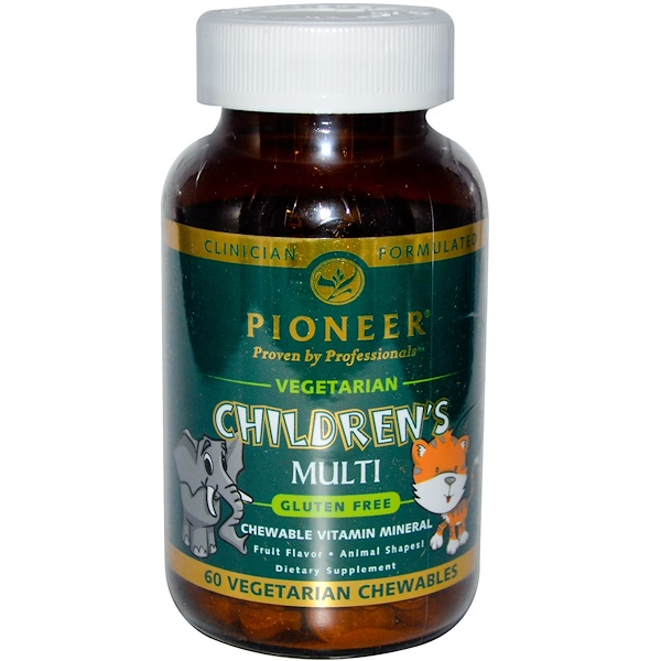 Pioneer Nutritional Formulas, Children's Multi, Fruit Flavor, 60 Veggie Chewables (Discontinued Item)