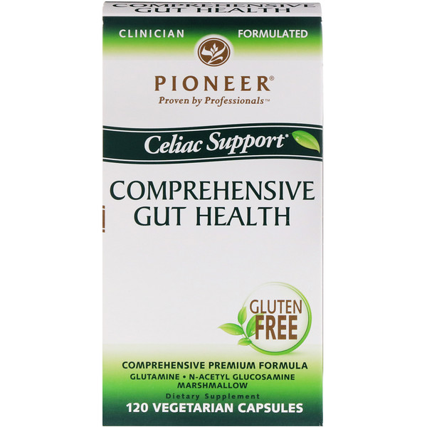 Pioneer Nutritional Formulas, Comprehensive Gut Health, Celiac Support, 120 Veggie Caps