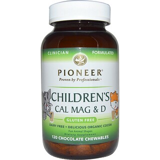 Pioneer Nutritional Formulas, Children's Cal Mag & D, Chocolate Flavor, 120 Chewables