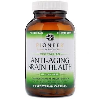 Pioneer Nutritional Formulas, Anti-Aging Brain Health, 60 Vegetarian Capsules