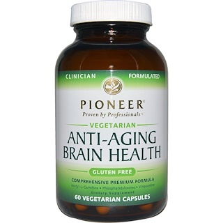 Pioneer Nutritional Formulas, Anti-Aging Brain Health, 60 Veggie Caps