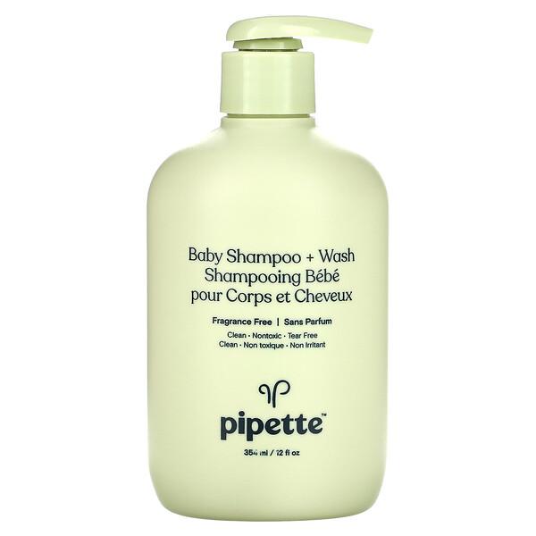 Baby Shampoo + Wash, Fragrance Free, 12 fl oz (354 ml)
