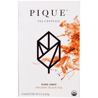 Pique Tea, Earl Grey, Organic Black Tea, 14 Sachets, 0.3 oz (8.4 g)