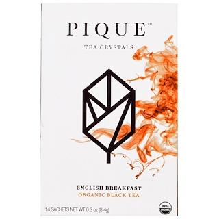 Pique Tea, English Breakfast, Organic Black Tea, 14 Sachets, 0.3 oz (8.4 g)