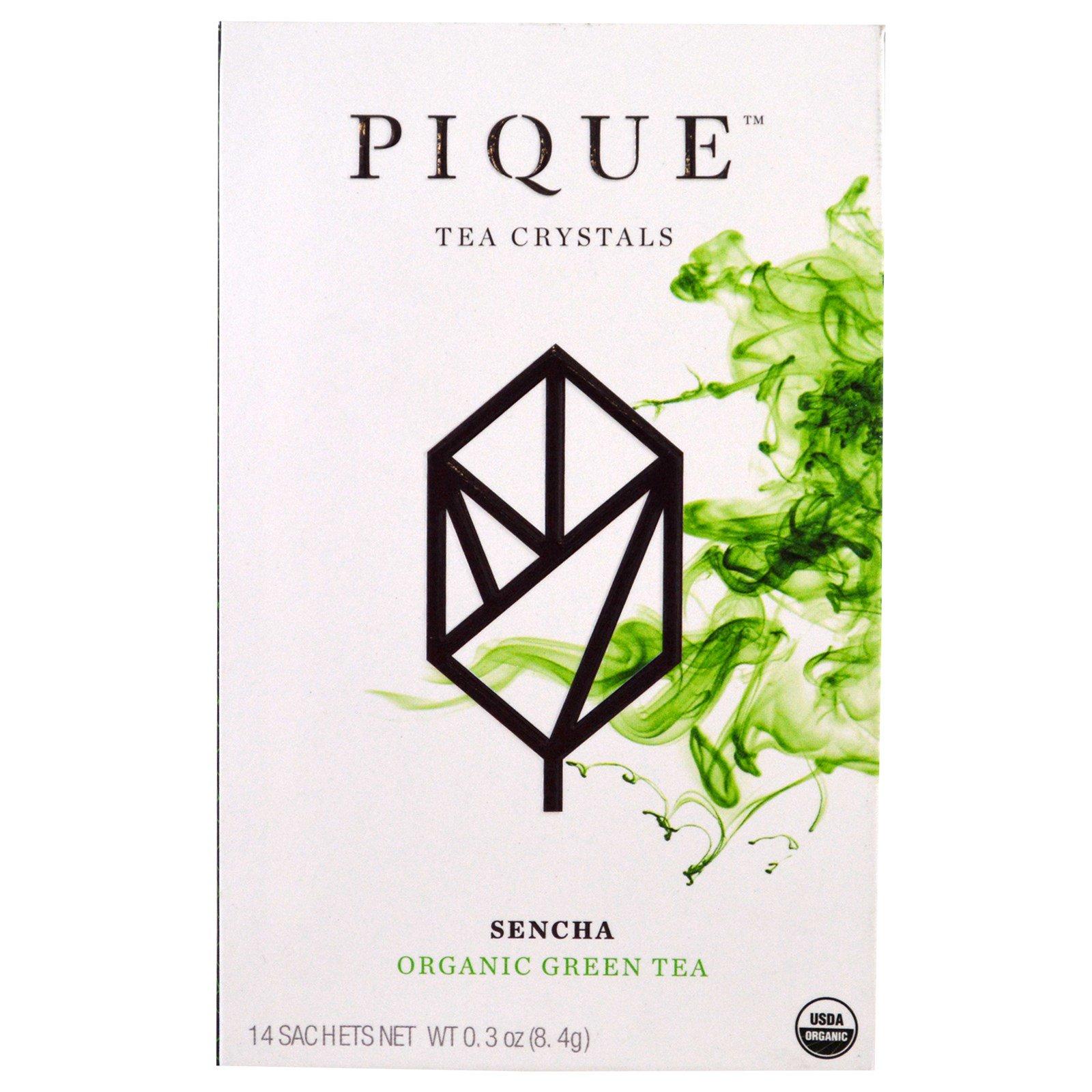 Pique Tea, Sencha, зеленый чай органического происхождения, 14 пакетиков, 8,4 г (0.3 унции)