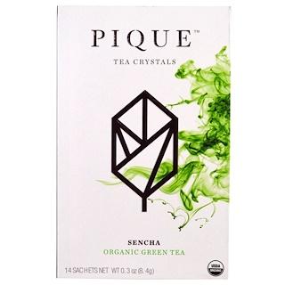 Pique Tea, Sencha, Organic Green Tea , 14 Sachets, 0.3 oz (8.4 g)
