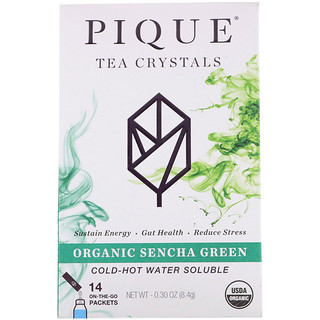 Pique Tea, Organic Sencha Green Tea, 14 Packets, 0.30 oz (8.4 g)