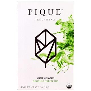Pique Tea, Mint Sencha, Organic Green Tea, 14 Sachets, 0.3 oz (8.4 g)