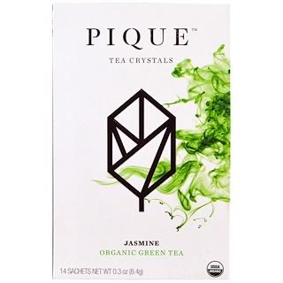 Pique Tea, Jasmín, té verde orgánico, 14 sobrecitos, 0.3 oz (8.4 g)