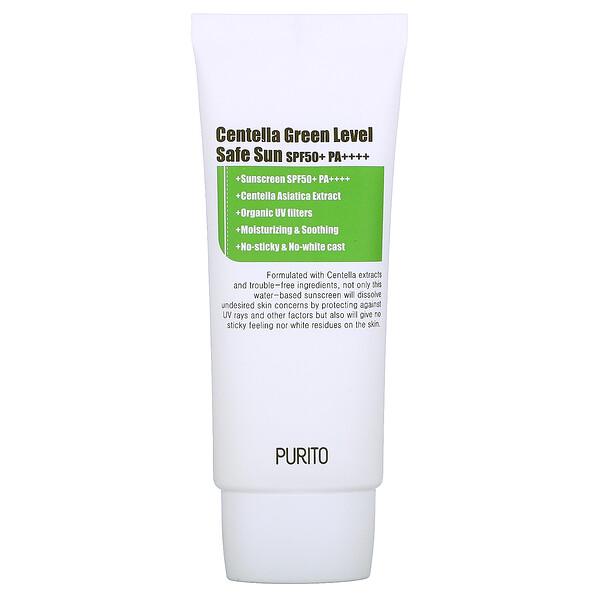 Purito, Centella Green Level, Safe Sun, SPF 50+ PA++++, 2 fl oz (60 ml) (Discontinued Item)