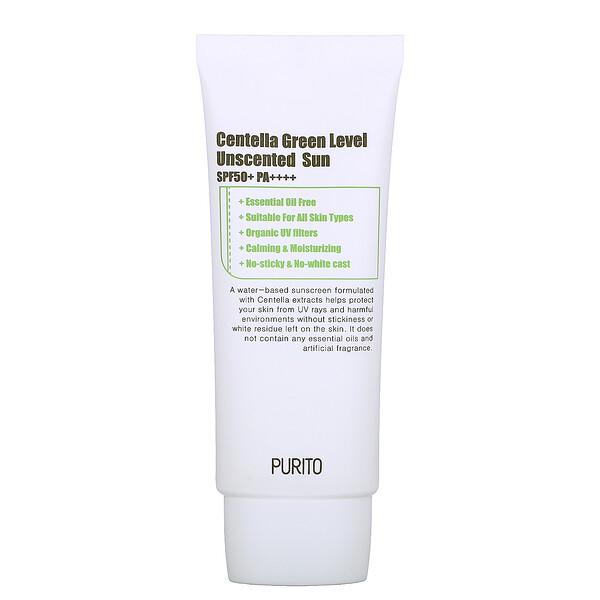 Purito, Centella Green Level, Unscented Sun, SPF 50+ PA++++, 2.0 fl oz (60 ml) (Discontinued Item)