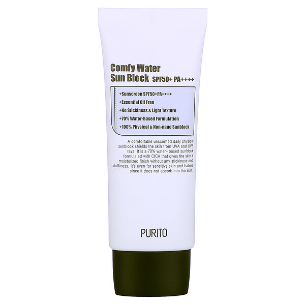 Purito, Comfy Water Sun Block, SPF 50+PA++++, 2.0 fl oz (60 ml) (Discontinued Item)