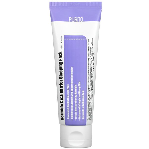 Purito, Dermide Cica Barrier Sleeping Pack, 2.70 fl oz (80 ml)