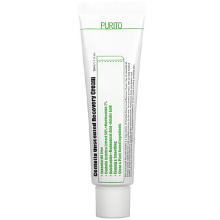 Purito, Centella Unscented Recovery Cream, 1.7 fl oz (50 ml)