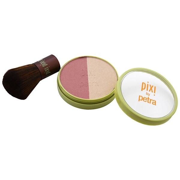 Pixi Beauty, Beauty Blush Duo + Kabuki, Rose Gold, 0.36 oz (10.21 g) (Discontinued Item)