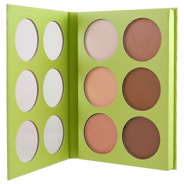 Pixi Beauty, Book of Beauty, Contour Creator, 6 Face Colours - 0.09 oz (2.7 g) Each (Discontinued Item)