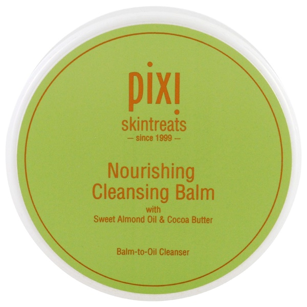 Pixi Beauty, Nourishing Cleansing Balm, with Sweet Almond Oil & Cocoa Butter, 3.04 fl oz (90 ml) (Discontinued Item)