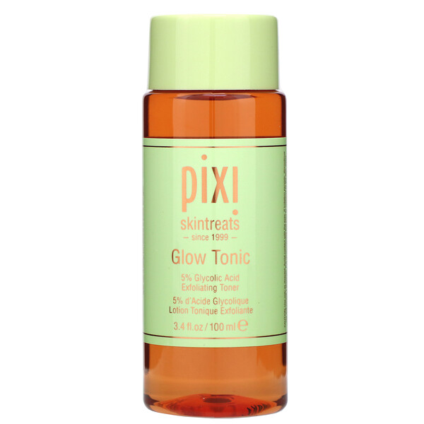 Pixi Beauty, Skintreats, Glow Tonic, Exfoliating Toner, For All Skin Types, 3.4 fl oz (100 ml)