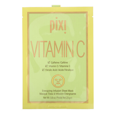 Купить Pixi Beauty Vitamin C, Energizing Infusion Sheet Mask, 3 Sheet Masks, 0.8 oz (23 g) Each
