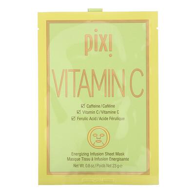 Pixi Beauty Vitamin C, Energizing Infusion Sheet Mask, 3 Sheet Masks, 0.8 oz (23 g) Each