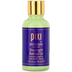 Pixi Beauty, 隔夜視黃醇油,夜用皮膚舒緩油,1 液量盎司(30 毫升)